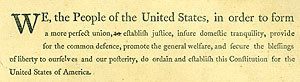U.S. Constitution draft excerpt