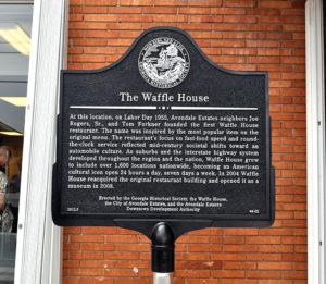 Waffle House Historical Marker