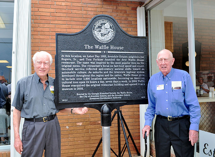 Forkner and Rogers with the Historical Marker