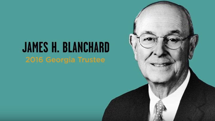 Georgia Trustee: James H. Blanchard