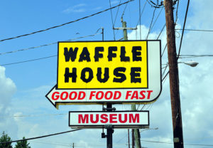 Waffle House Museum Street Sign