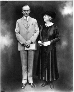 Martha Berry receiving Roosevelt Medal from Calvin Coolidge 1925